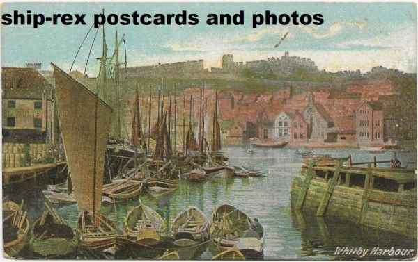 Whitby Harbour, postcard (b)